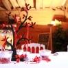 Centre de table rouge