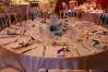 Centre de table bleu