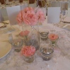 Centre de table rose pâle et gris