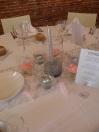 Décoration de table avec bougies