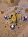 Centre de table bleu et argent