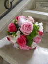 Bouquet de mariée rond coloré