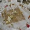 Centre de table doré et crème