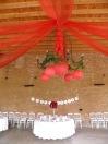 Décoration de mariage, salle de l'Orangerie de Rochemontes