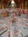 Centre de table blanc et rose