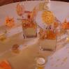 décoration de table orange