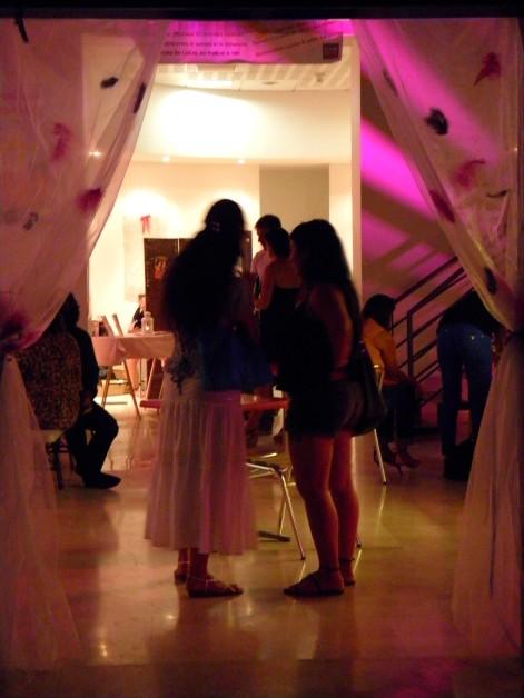 Lumiére d'ambiance de la soirée beauty party