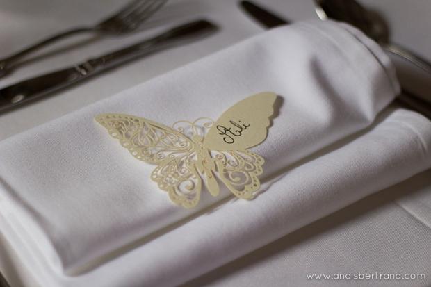 Mariage thème papillon