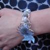 Bracelet moulin et fleurs
