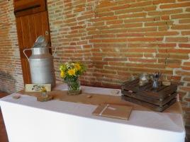 Décoration table de l'urne et livre d'or